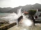 nass und windig